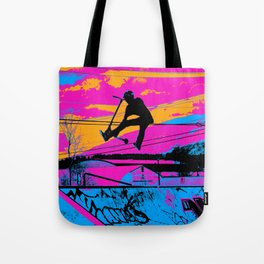 Lets Fly!  - Stunt Scooter Tote Bag