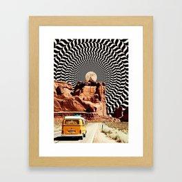 Illusionary Road Trip Framed Art Print