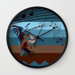 Southwest Kokopelli Music Wall Clock