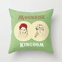 moonrise kingdom Throw Pillows featuring Moonrise Kingdom  by Sheena White for Winsome Gallery