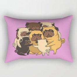 Pugs Group Hug Rectangular Pillow