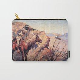 "Frederic Remington Western Art ""Apache Ambush"" Carry-All Pouch"