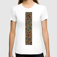 antique T-shirts featuring ANTIQUE PATTERN by Klara Acel