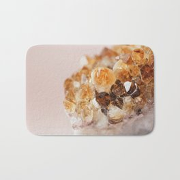 Citrine On Pink Bath Mat