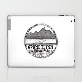 Grand Teton National Park Illustration Laptop & iPad Skin