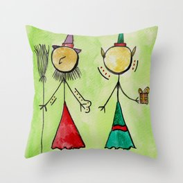 "#cagsticks ""The witch and the Elf"" Throw Pillow"