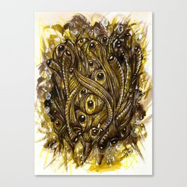 eyes and worms Canvas Print