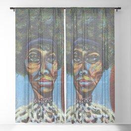 "Eunice ""Nina Simone"" Waymon Sheer Curtain"