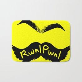 RwnlPwnl Mustache Bath Mat
