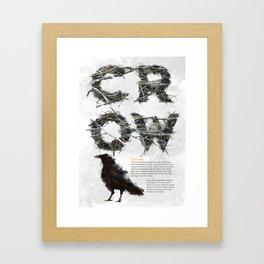 Birds of Britain - Crow Framed Art Print