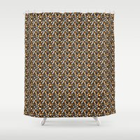 beaver Shower Curtains featuring Beaver Fight Song by Bob Greenwade