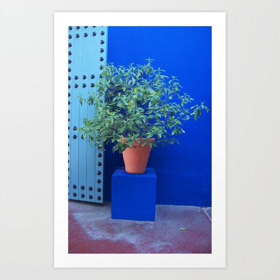 Maison Yves St Laurent Marrakech Art Print