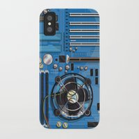 computer iPhone & iPod Cases featuring Computer Motherboard by Nick's Emporium