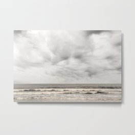 Atlantic Ocean on a Cold and Cloudy Day Metal Print
