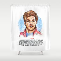star lord Shower Curtains featuring Star Lord by Nicolaine