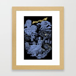Hispanic Legend La Llorona (purple) Framed Art Print