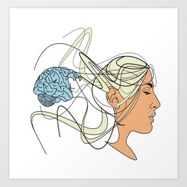 Brain Seperation Art Print