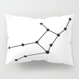 Virgo Star Sign Black & White Pillow Sham