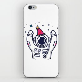 Partying Astronaut iPhone Skin