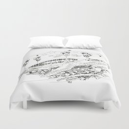 Wanderlust Series - Turtle Duvet Cover