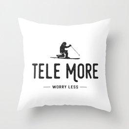 Tele More Worry Less Throw Pillow