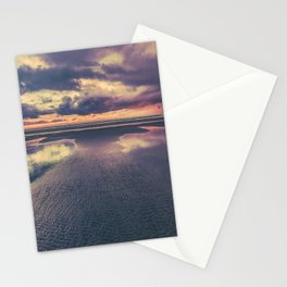 Stormy Beach Sunset Stationery Cards