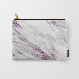 Gray and Ultra Violet Marble Agate Carry-All Pouch