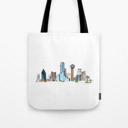 downtown dallas skyline Tote Bag