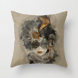 Venetian Mask 2 Throw Pillow