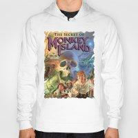 monkey island Hoodies featuring Monkey Island by idaspark