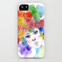 Simple Girl iPhone Case