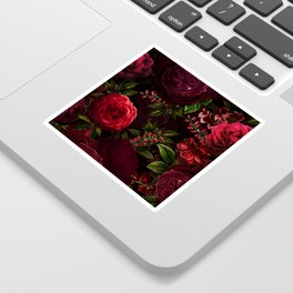 Mystical Night Roses Sticker