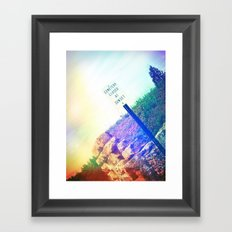 Closed at Sunset Framed Art Print