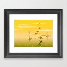 parapluies Framed Art Print