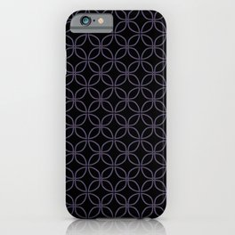 MAUDE subtle mauve geometric pattern on black iPhone Case