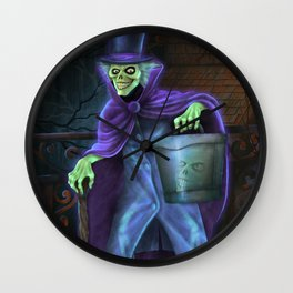 Hatbox Ghost Wall Clock