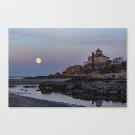 Full moon at Good Harbor Beach Canvas Print