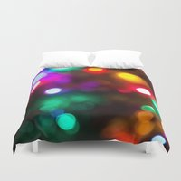 the lights Duvet Covers featuring Lights by Michelle McConnell