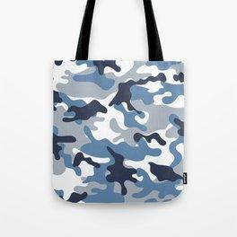 Blue and White Camo Tote Bag