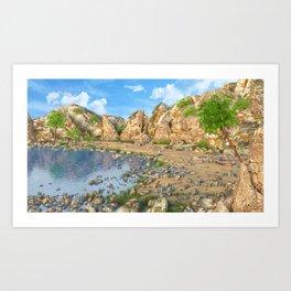 Fantasy beach Art Print