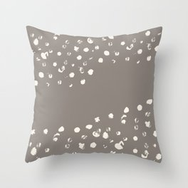 Dappled Hide in Taupe Throw Pillow