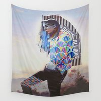wanderlust Wall Tapestries featuring Wanderlust by Jenessa Peterson