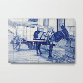 Portuguese glazed tiles Metal Print