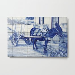 Portuguese glazed tiles Metal Print