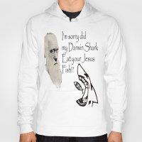 darwin Hoodies featuring Darwin Shark by A&N2218
