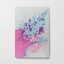 Succes way in color Metal Print