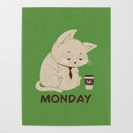 Monday Cat Poster