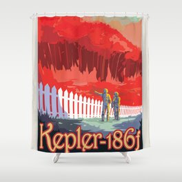 NASA Visions of the Future - Kepler-186f Shower Curtain