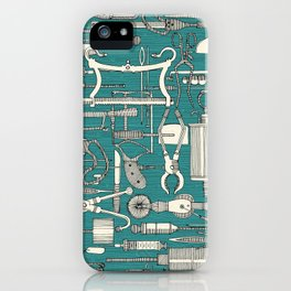 fiendish incisions blue iPhone Case