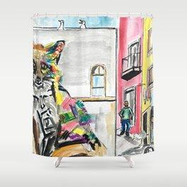 Piece of Portugal Shower Curtain